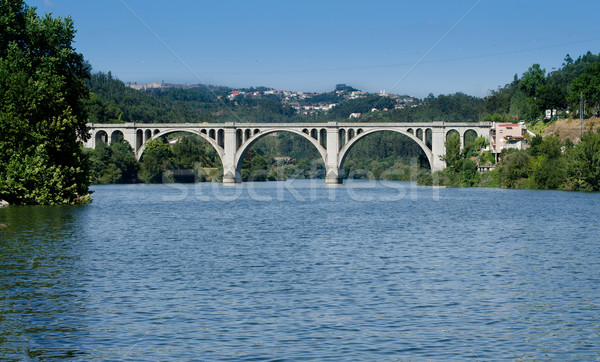 Ponte de Pedra, Entre-os-rios, Portugal Stock photo © homydesign