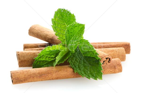 Cinnamon sticks Stock photo © homydesign