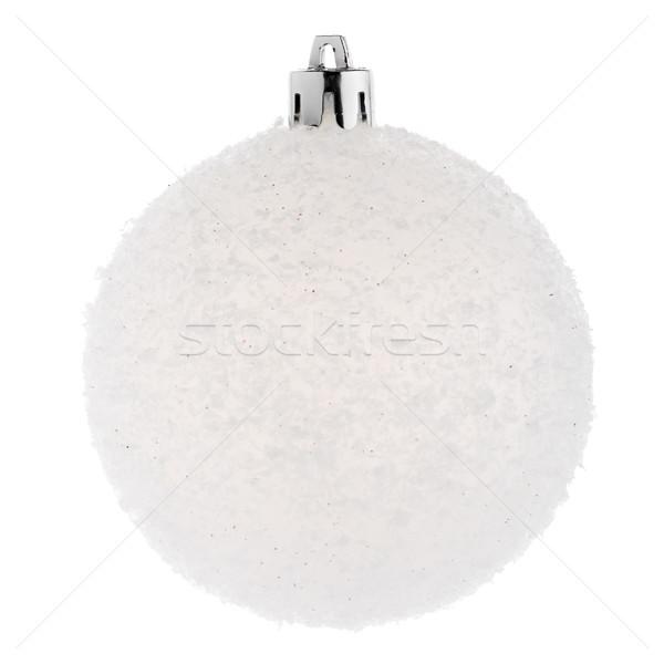 Weiß Weihnachten Spielerei Bereich Ornament isoliert Stock foto © homydesign