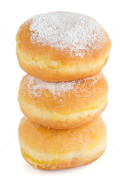おいしい ドーナツ クローズアップ 詳細 孤立した 白 ストックフォト © homydesign