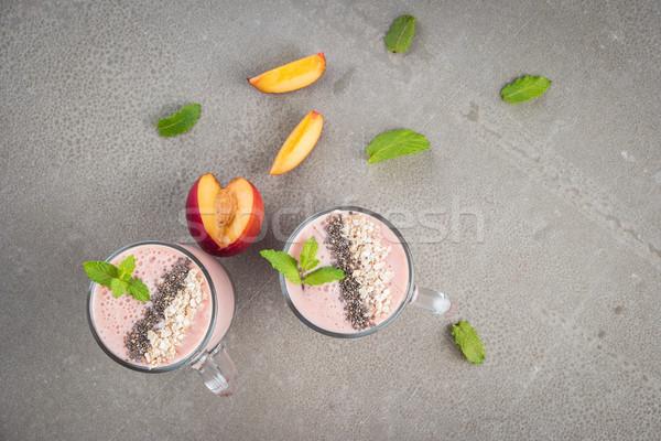 Fresh homemade smoothie Stock photo © homydesign