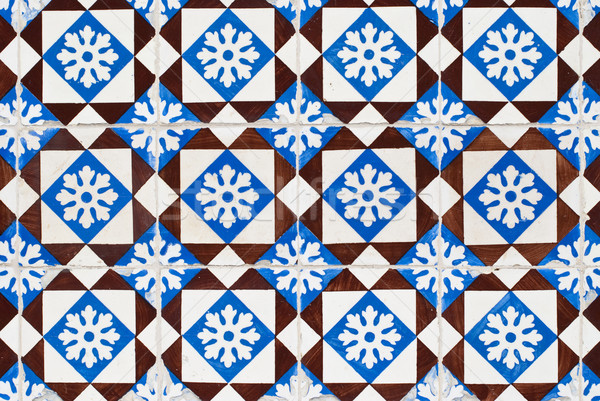 Portuguese glazed tiles 155 Stock photo © homydesign