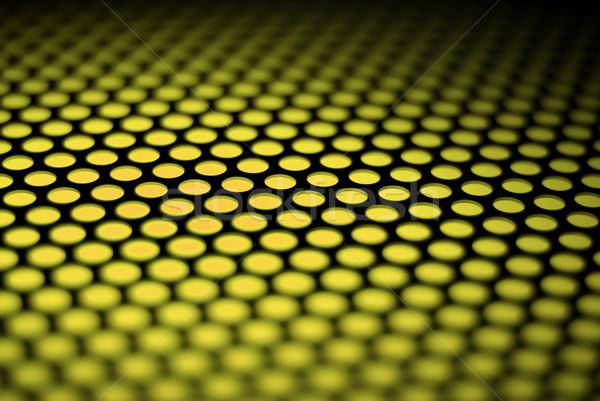 Stock photo: Metalic backlit shinny background