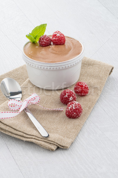 Paleo dieta stile dessert cioccolato fondente uova Foto d'archivio © homydesign