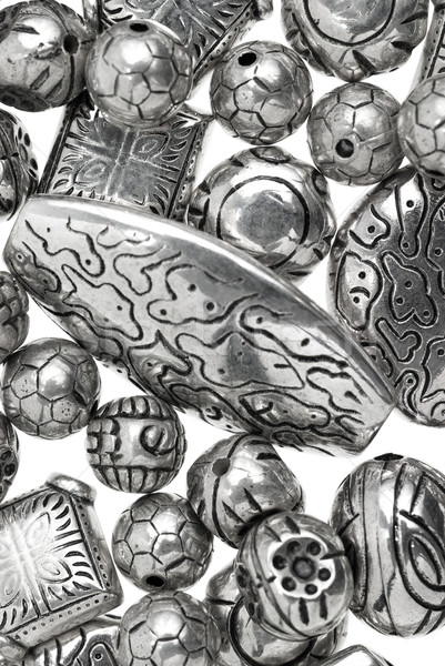 silver beads Stock photo © homydesign