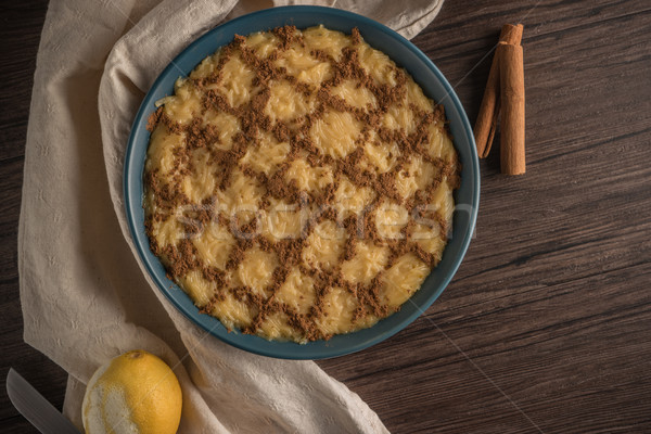 Pudding klasyczny tradycyjnie serwowane christmas czasu Zdjęcia stock © homydesign