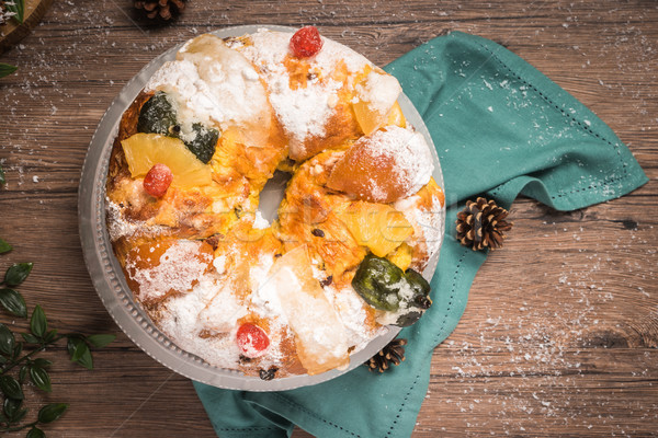 Bolo do Rei or King's Cake Stock photo © homydesign