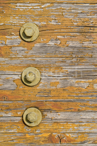 Wooden texture with bolts Stock photo © homydesign
