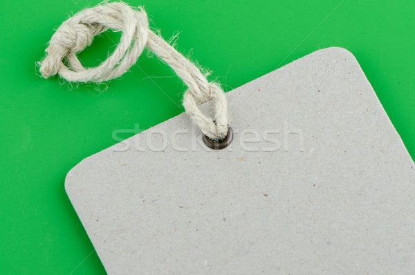 Blank product info label Stock photo © homydesign