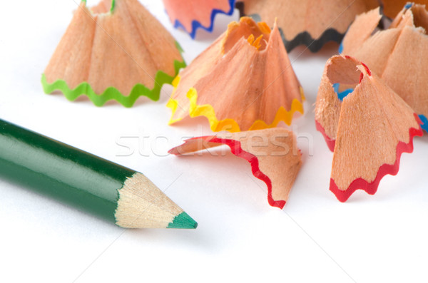 Pencil and shavings Stock photo © homydesign