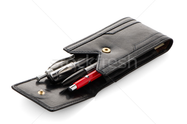 Leather pencil case  Stock photo © homydesign
