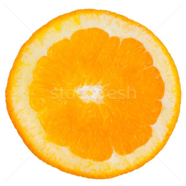 Rodaja de naranja macro aislado blanco luz frutas Foto stock © homydesign