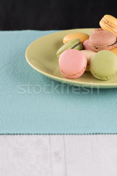 Colorful macaroons Stock photo © homydesign