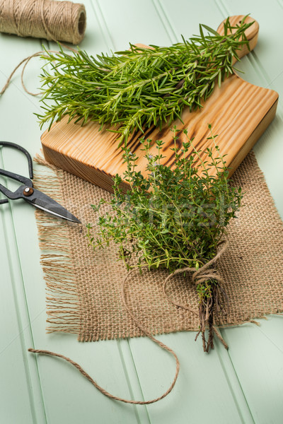Rosemary and thyme Stock photo © homydesign