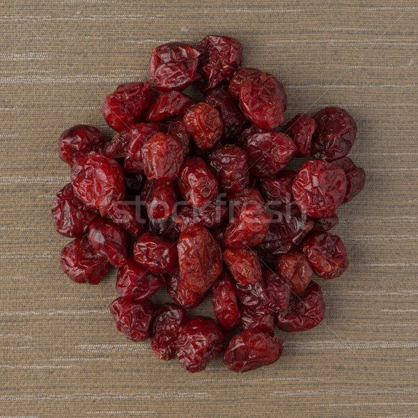 Circle of dried cranberries Stock photo © homydesign