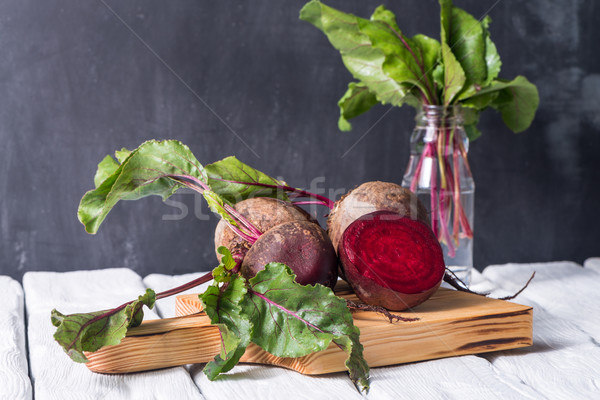 Beetroots rustic wooden table  Stock photo © homydesign