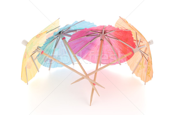 Paper umbrellas for cocktails Stock photo © homydesign