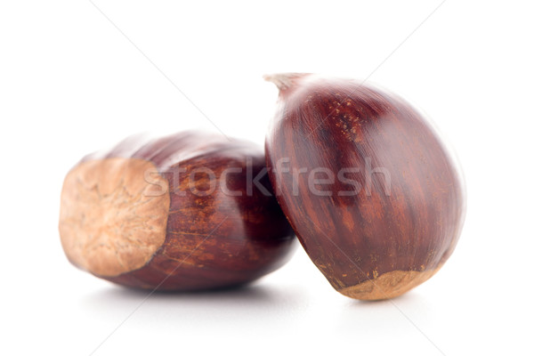 Chestnuts with shell  Stock photo © homydesign