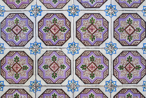 Portuguese glazed tiles 163 Stock photo © homydesign