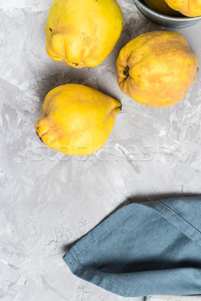 Olgun ayva meyve mutfak elma meyve Stok fotoğraf © homydesign