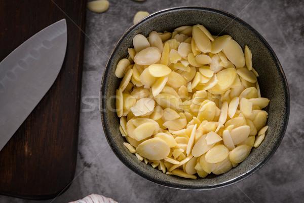 Escuro tigela cozinha comida alimentação saudável Foto stock © homydesign