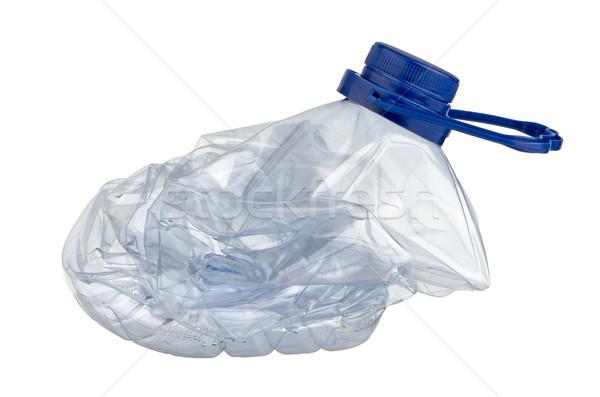 Squashed plastic bottle Stock photo © homydesign