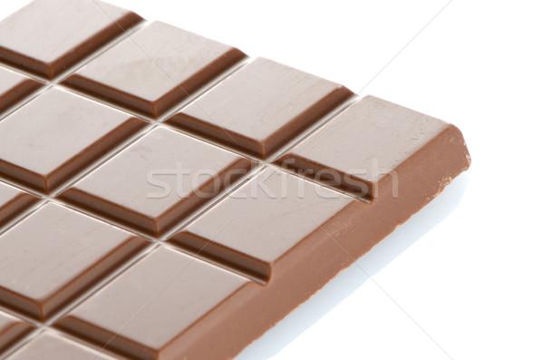 Csokoládé szelet közelkép részlet barna textúra absztrakt Stock fotó © homydesign