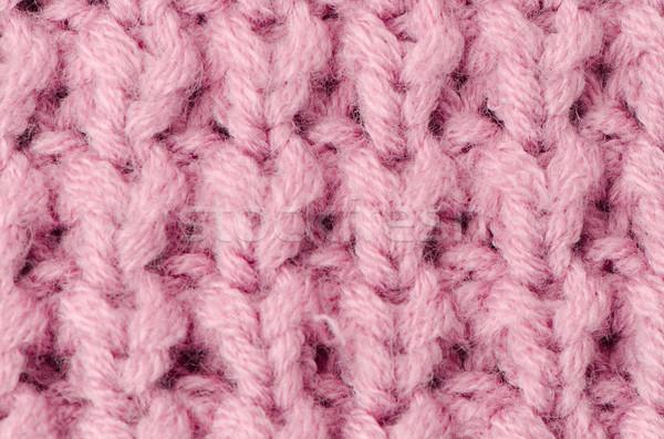 Roze gebreid wol textuur kan abstract Stockfoto © homydesign