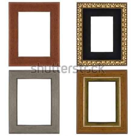 четыре фотография кадры изолированный белый древесины Сток-фото © homydesign