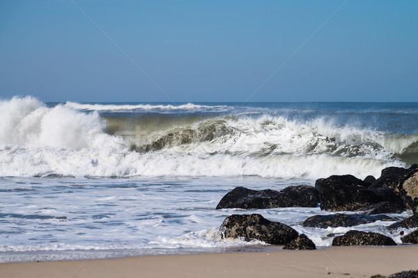 Atlantic waves in Portugal Stock photo © homydesign