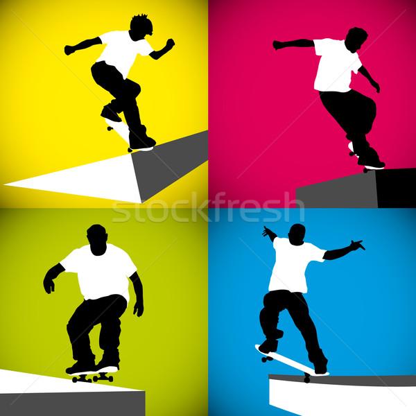 Skater Curb Stock photo © homydesign