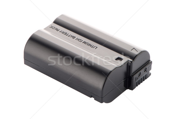 Caméra batterie Pack isolé blanche fond Photo stock © homydesign