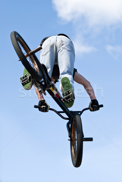 BMX Bike Stunt Aerial Stock photo © homydesign