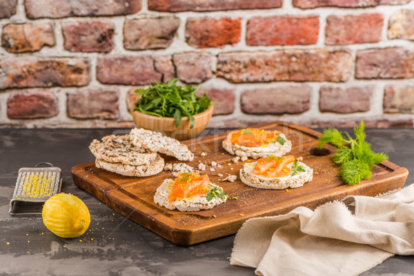 Riso pane crema formaggio Foto d'archivio © homydesign