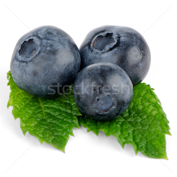 Ripe blueberry Stock photo © homydesign