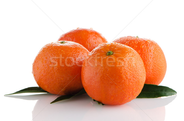 Ripe tangerines or mandarin Stock photo © homydesign