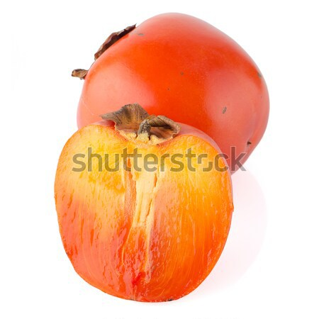 Persimmon with slice Stock photo © homydesign