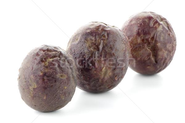 Pasión frutas maduro blanco Foto stock © homydesign