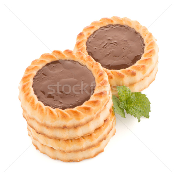 Cioccolato crostata cookies bianco mangiare Foto d'archivio © homydesign