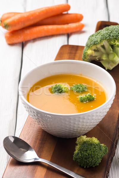 ストックフォト: 野菜 · クリーム · スープ · 装飾された · ピース · カリフラワー
