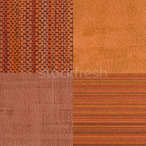 Set of orange vinyl samples Stock photo © homydesign