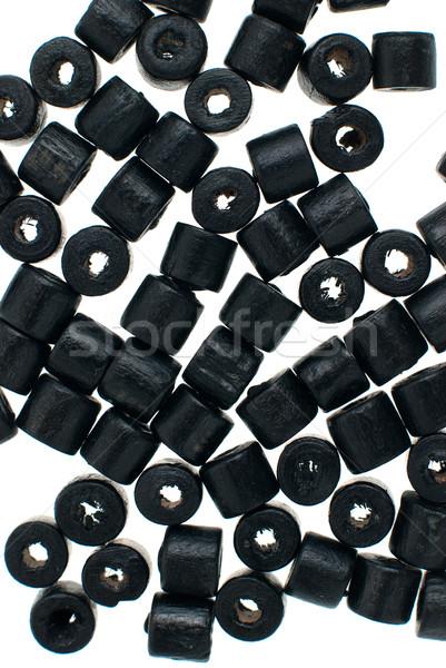 черный бисер ожерелье фоны Сток-фото © homydesign