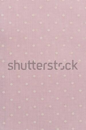Rosa bianco spot pattern tessuto può Foto d'archivio © homydesign