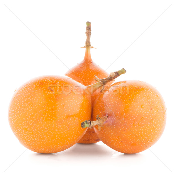 Pasión frutas alimentos naranja tropicales amarillo Foto stock © homydesign