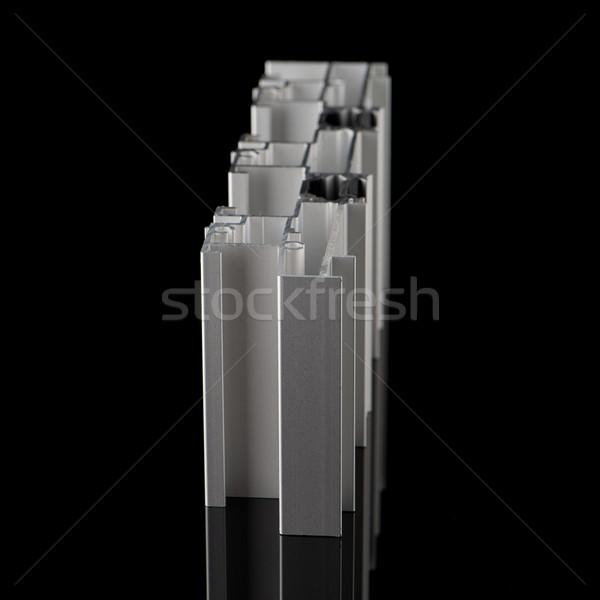 Alumínium profil minta izolált fekete épület Stock fotó © homydesign