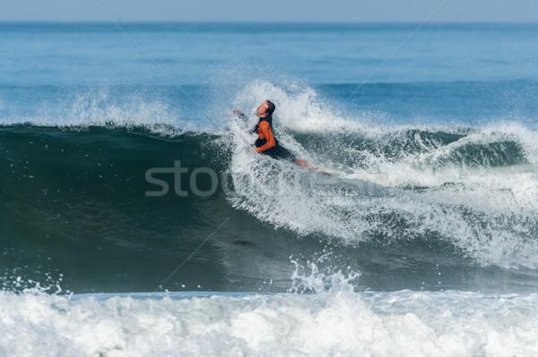 Acción océano olas playa agua Foto stock © homydesign