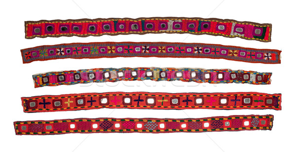 Colorful indian style ribbon Stock photo © homydesign