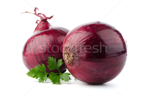 Stock photo: Red sliced onion