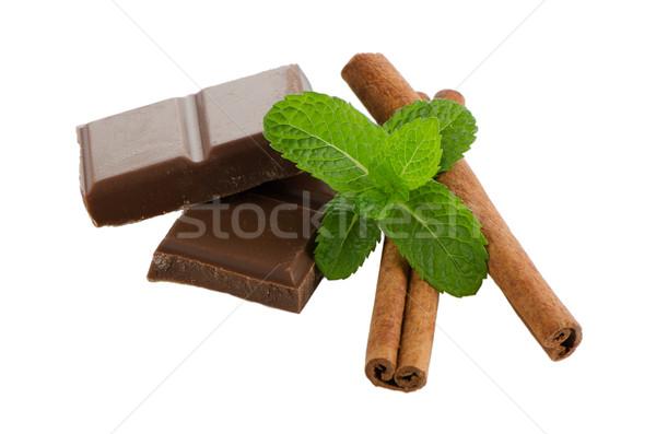 Closeup detail of chocolate parts Stock photo © homydesign