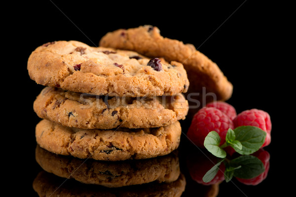 сушат плодов чипа Cookies малина изолированный Сток-фото © homydesign
